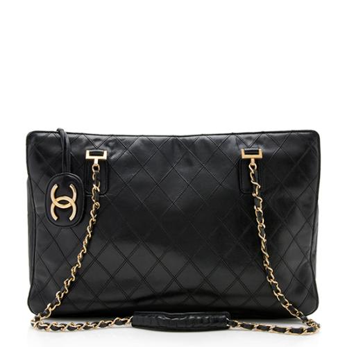 a77386dea078 Chanel Vintage Quilted Leather Chain Tote