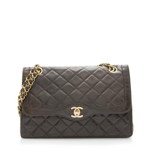 Chanel Vintage Quilted Leather Double Flap Bag