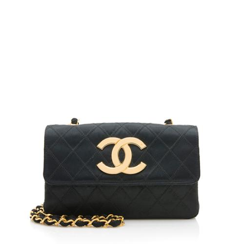 eda3dee1ab89 Chanel Vintage Satin CC Flap Shoulder Bag