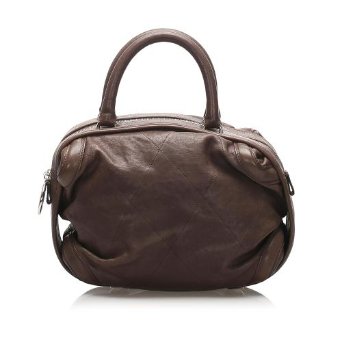 Chanel Wild Stitch Lambskin Leather Handbag