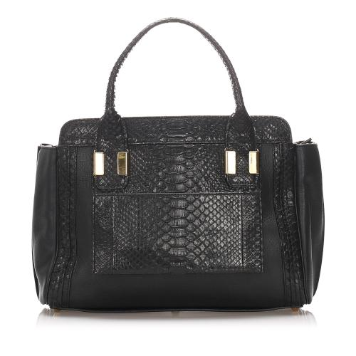 Chloe Alison Embossed Leather Handbag