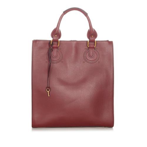 Chloe Aurore Leather Tote Bag