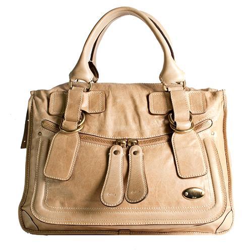 Chloe Bay Leather Satchel Handbag