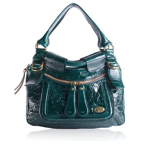Chloe Bay Patent Hobo Handbag