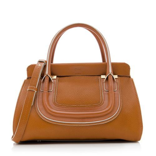 Chloe Calfskin Everston Medium Double Satchel