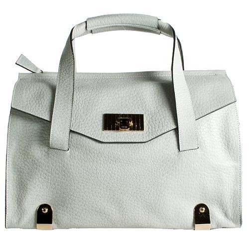 Chloe Calfskin Flap Satchel Handbag