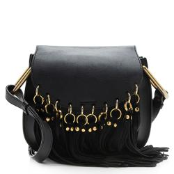 Chloe Calfskin Fringe Hudson Small Shoulder Bag