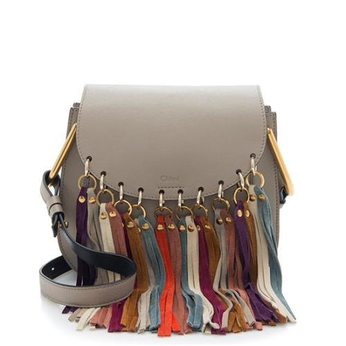 Chloe Calfskin Fringe Hudson Small Shoulder Bag