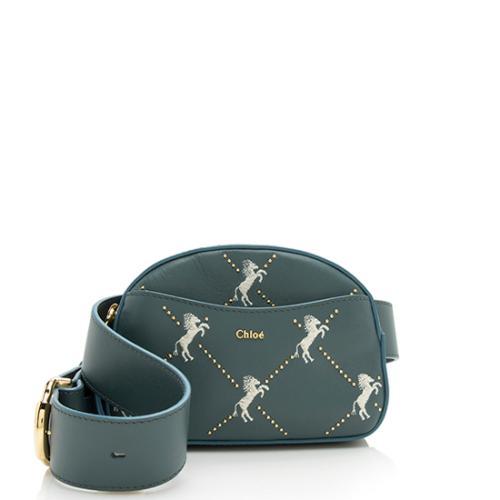 Chloe Calfskin Little Horses Embroidered Belt Bag