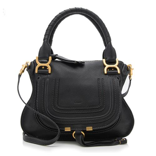 Chloe Calfskin Marcie Double Carry Small Satchel