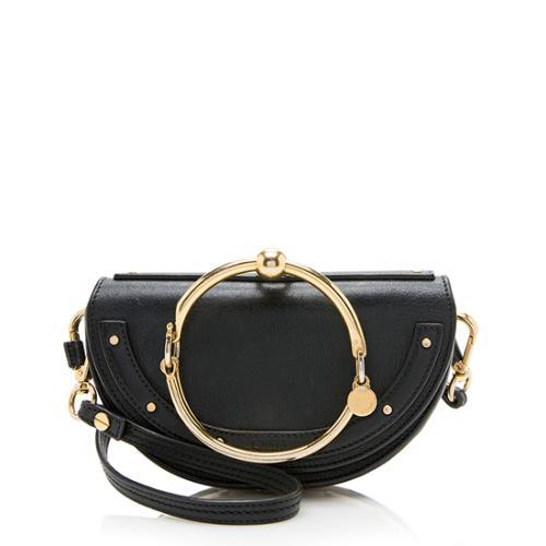 Chloe Calfskin Small Nile Minaudiere Bracelet Bag