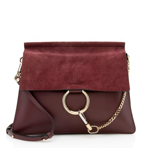 Chloe Calfskin Suede Faye Medium Shoulder Bag