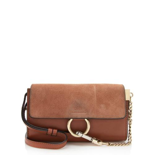 Chloe Calfskin Suede Faye Wallet Bag - FINAL SALE
