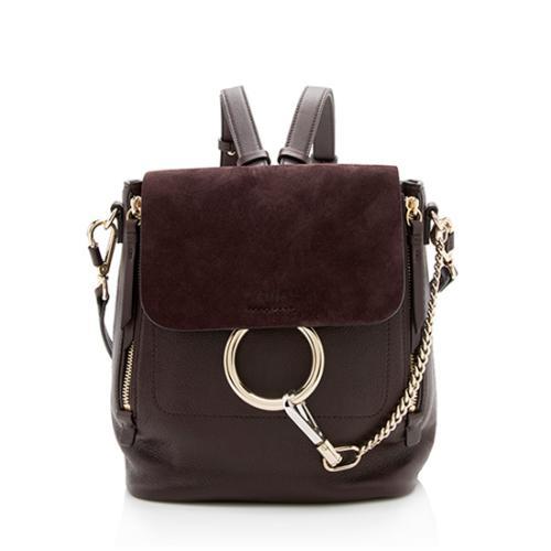 Chloe Calfskin Suede Faye Small Backpack