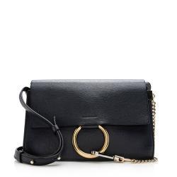 Chloe Calfskin Suede Faye Small Shoulder Bag