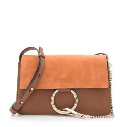 Chloe Calfskin Suede Faye Small Shoulder Bag