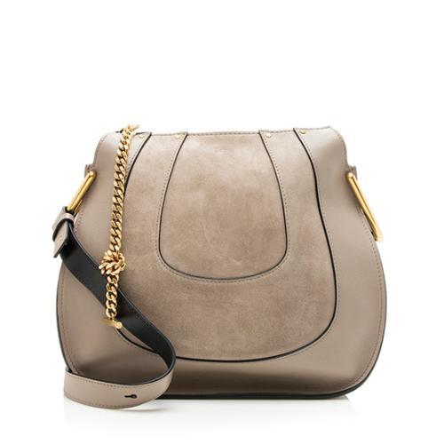 Chloe Calfskin Suede Hayley Small Shoulder Bag