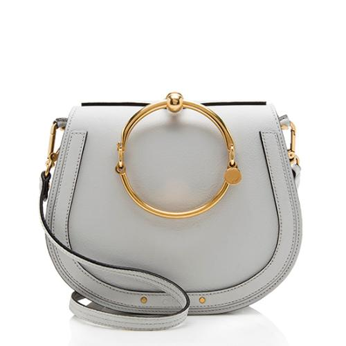 Chloe Calfskin Suede Nile Medium Bracelet Bag