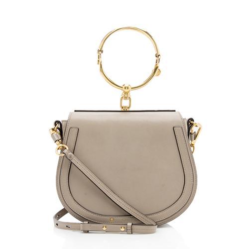 Chloe Calfskin Suede Nile Medium Bracelet Bag