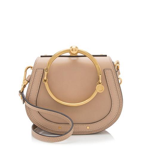 Chloe Calfskin Suede Nile Small Bracelet Bag