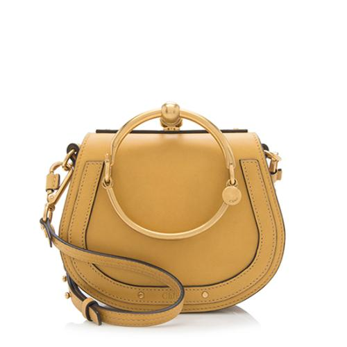 89328a82aff2 Chloe Calfskin Suede Nile Small Bracelet Bag