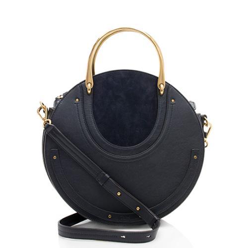 Chloe Calfskin Suede Pixie Medium Shoulder Bag