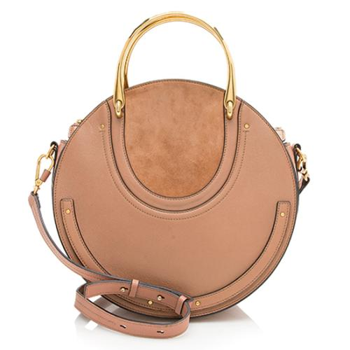 Chloe Calfskin Suede Pixie Medium Shoulder Bag