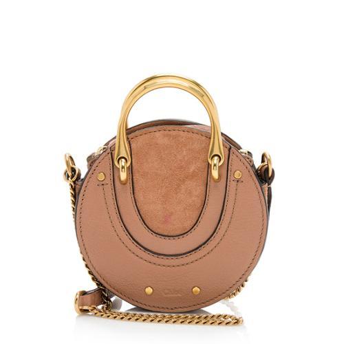 Chloe Calfskin Suede Pixie Mini Shoulder Bag