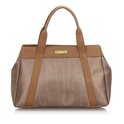 Chloe Canvas Small Tote