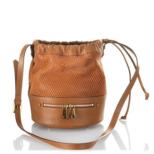 Chloe Charlie New Small Perforated Bucket Handbag