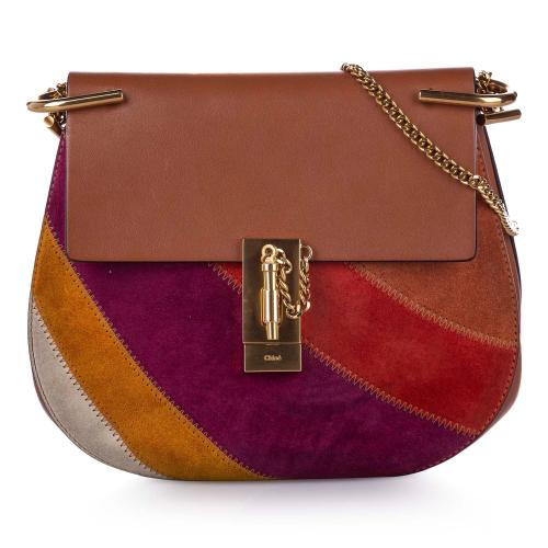 Chloe Drew Patchwork Leather Crossbody Bag