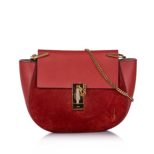 Chloe Drew Suede Crossbody Bag