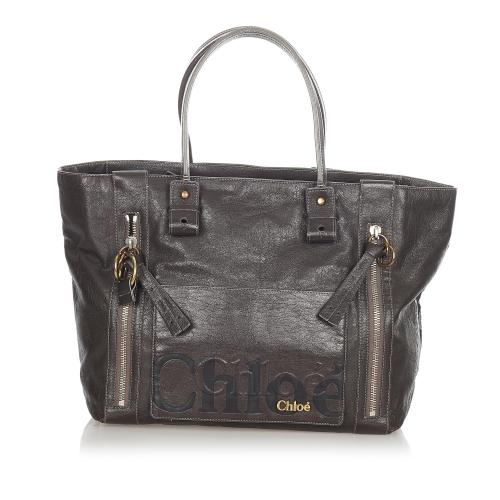 Chloe Eclipse Leather Tote Bag