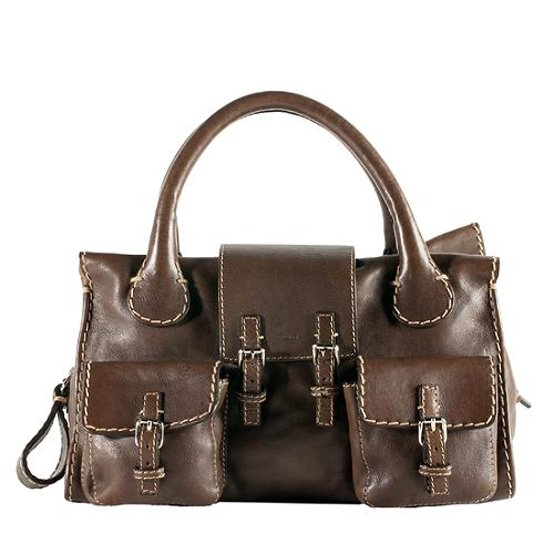 Chloe Edith Double Pocket Satchel Handbag