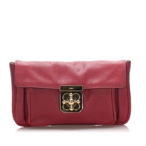 Chloe Elsie Leather Clutch Bag