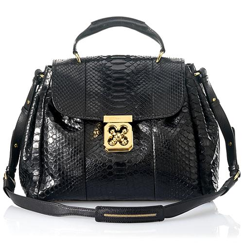 Chloe Elsie Medium Python Shoulder Handbag