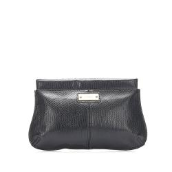 Chloe Embossed Leather Clutch