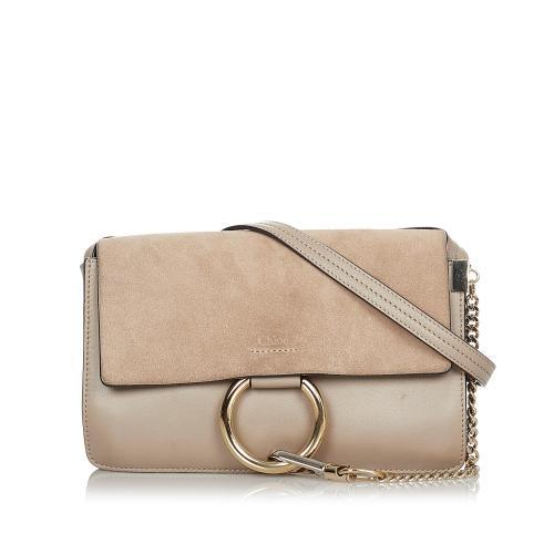Chloe Faye Leather Crossbody Bag