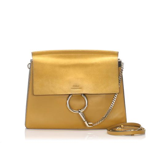 Chloe Faye Leather Shoulder Bag