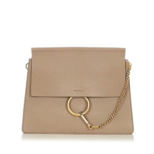 Chloe Faye Leather Shoulder Bag
