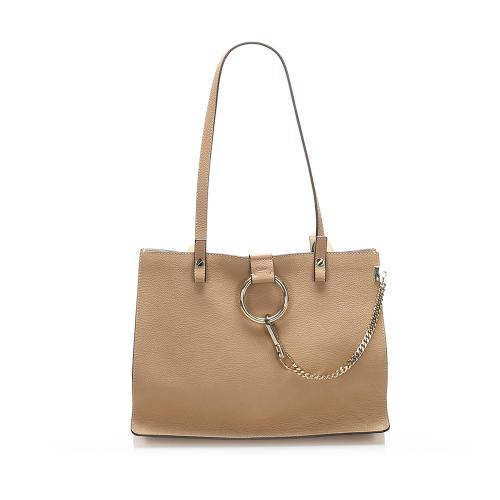 Chloe Faye Leather Tote Bag