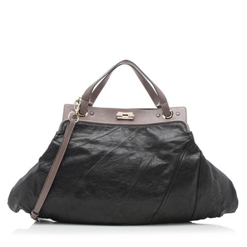 Chloe Goatskin Leather Odessa Large Satchel