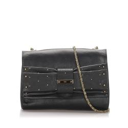 Chloe June Bow Leather Shoulder Bag