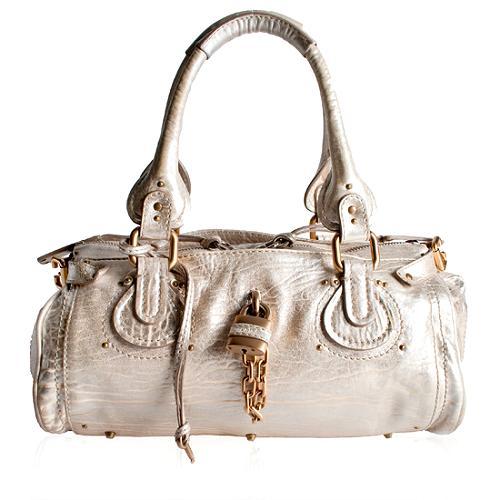 Chloe Kidskin Leather Paddington Medium Satchel Handbag
