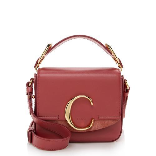 Chloe Leather C Mini Shoulder Bag