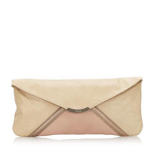Chloe Leather Clutch Bag