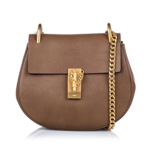 Chloe Leather Drew Crossbody Bag