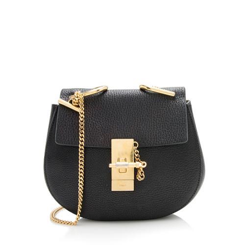 Chloe Leather Drew Mini Shoulder Bag