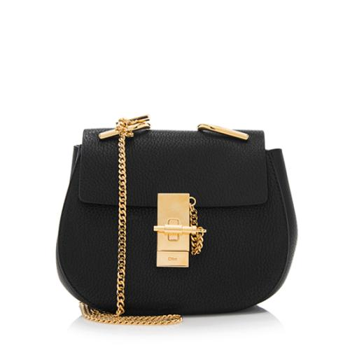 Chloe Leather Drew Mini Shoulder Bag