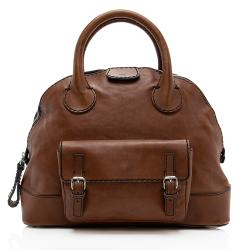 Chloe Leather Edith Large Bowler Satchel